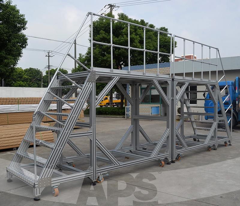 铝型材移动平台梯
